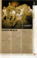 A scanned article about Harsh Realm from TV Guide.