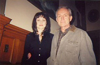 Sarah-Jane Redmond who played Lucy Butler, seen here with actor Lance Henriksen.