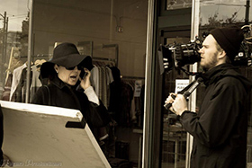 Sarah Jane Redmond on set in True Love Waits. (C)2013 Habana Productions.
